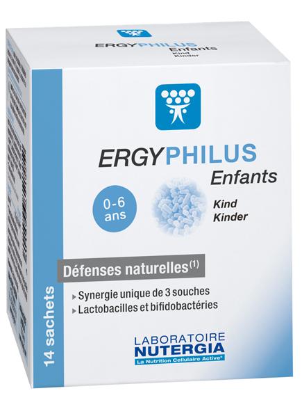 ERGYPHILUS ENFANTS 14 SACHETS NUTERGIA